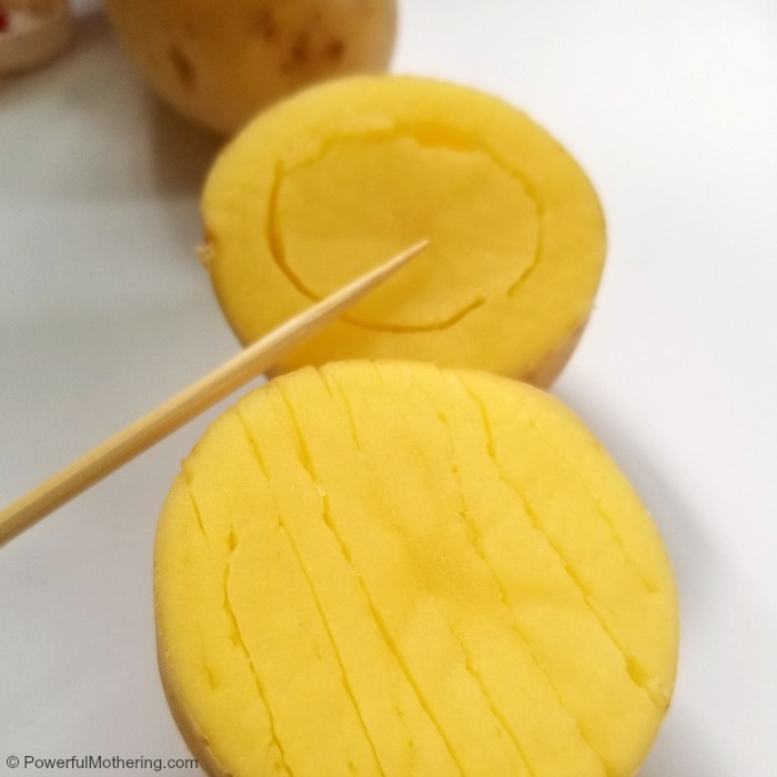 Make Your Own Stamp Designs In Potatoes
