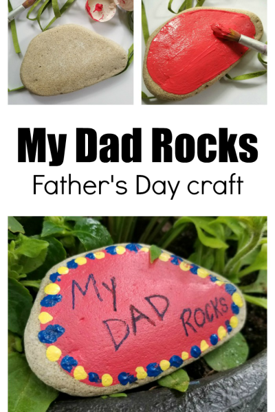 """My Dad Rocks!"" Father's Day Preschool Craft"