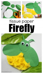 Tissue Paper Firefly Craft for Kids