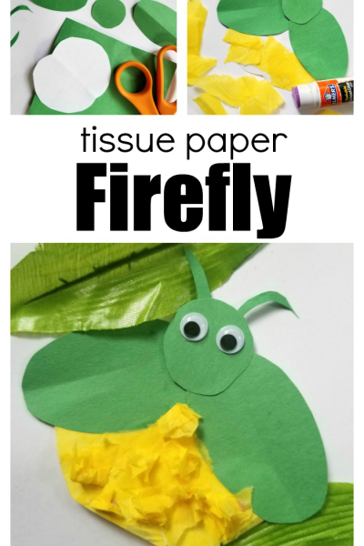 Tissue Paper Firefly Craft
