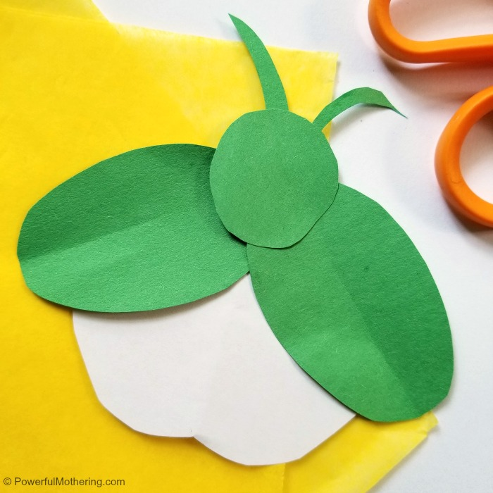 Tissue Paper Firefly Craft In Process