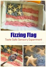 Fizzing Flag Sensory Play