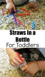Straws in a Bottle For Toddlers