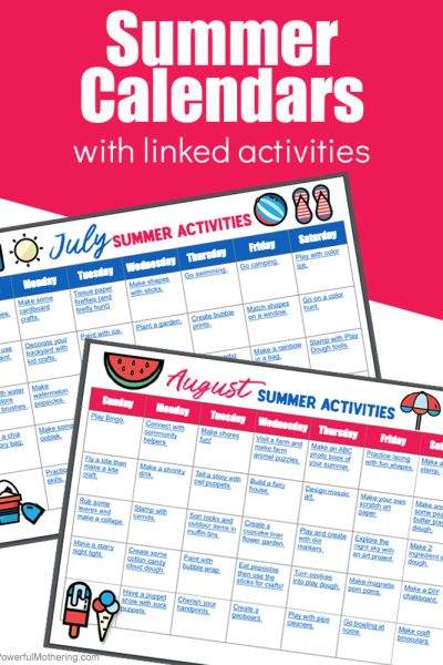 Printable Summer Activity Calendar Perfect For Families