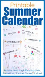 All Inclusive Summer Calendar – A 13 Page Printable Set