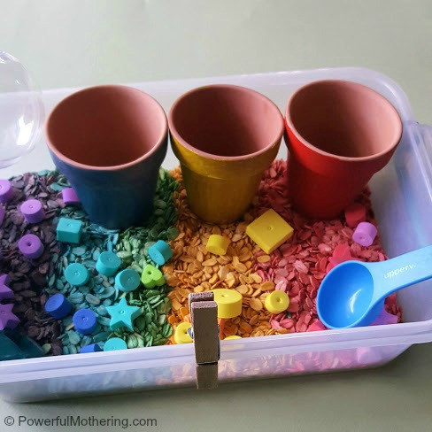 Rainbow Oats Bin Invitation To Play