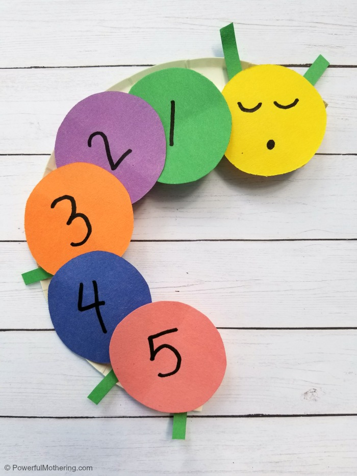 Learning Numbers with a Counting Caterpillar Craft for Kids