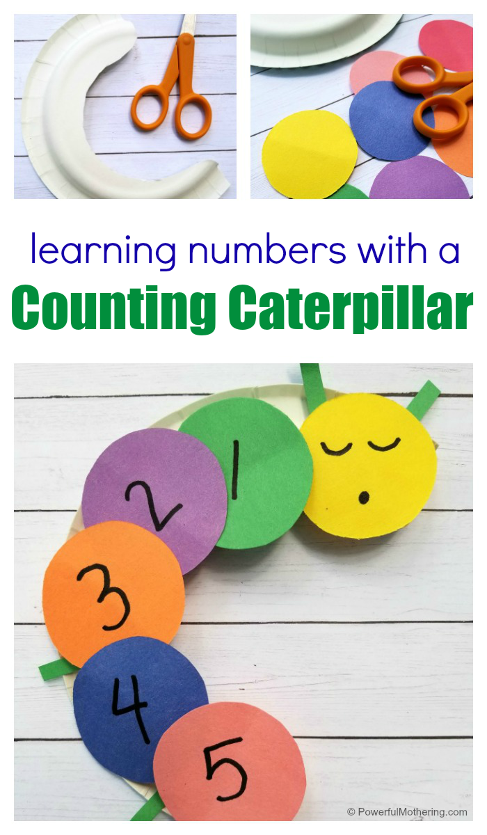 How To Make A Counting Caterpillar For Learning Numbers