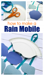 How To Make A Rain Mobile Craft for Kids
