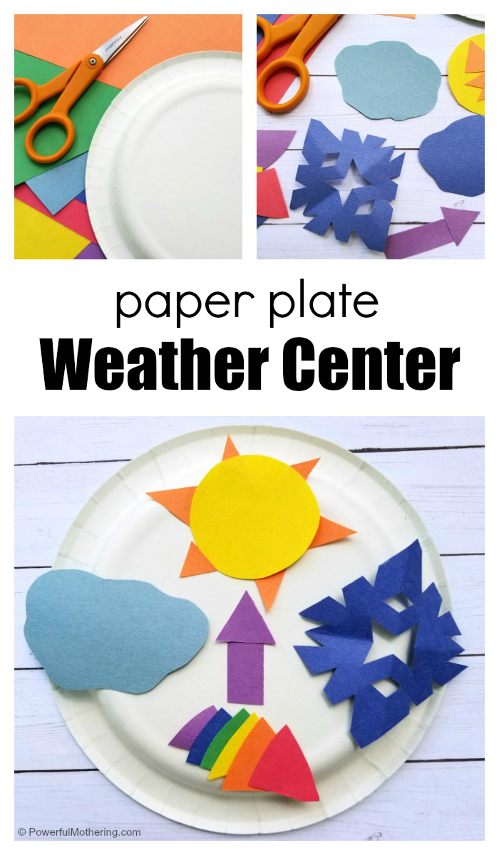 Paper Plate Weather Center Craft