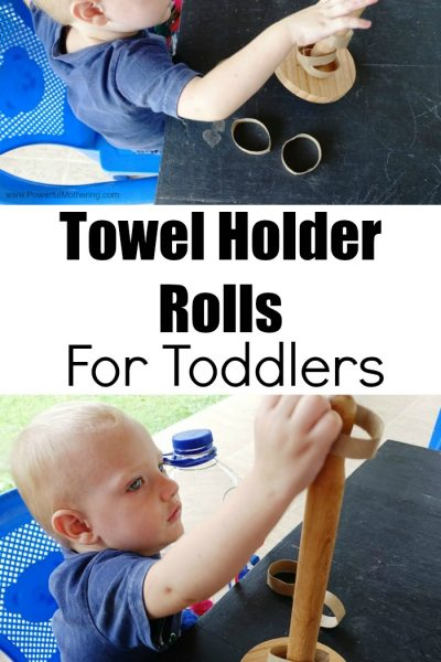 Towel Holder and Rolls For Toddlers