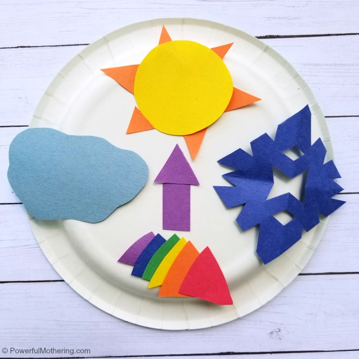 How To Make A Paper Plate Weather Center