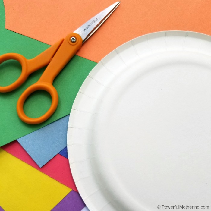 Paper Plate Weather Center Materials