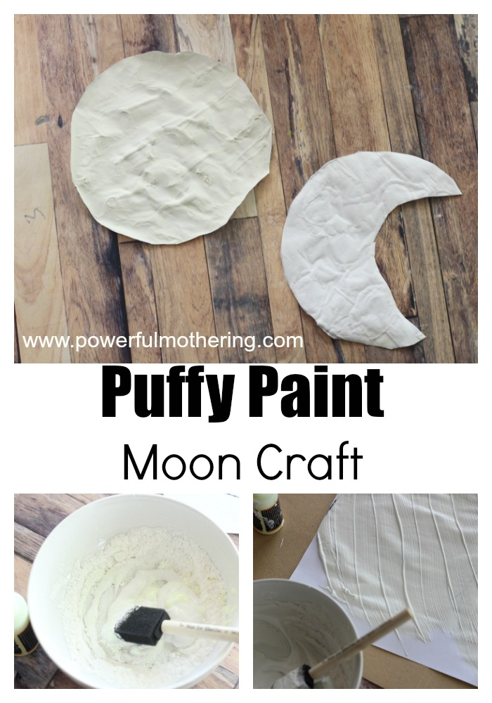 moon activity puffy paint craft