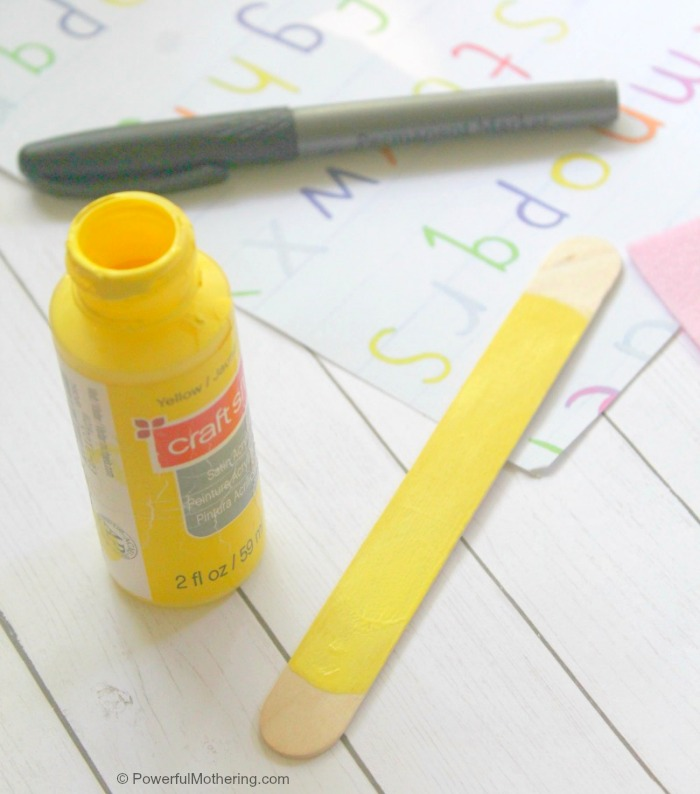Back To School Craft Painting Pencil Bookmark