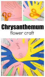 Chrysanthemum Flower Craft for Kids