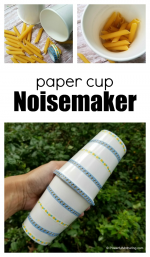 Paper Cup Noisemaker Craft