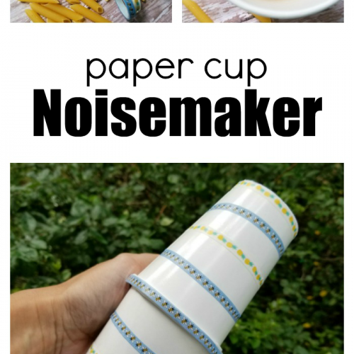 How To Make A Paper Cup Noisemaker Craft