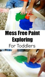 Mess Free Paint Exploring For Toddlers