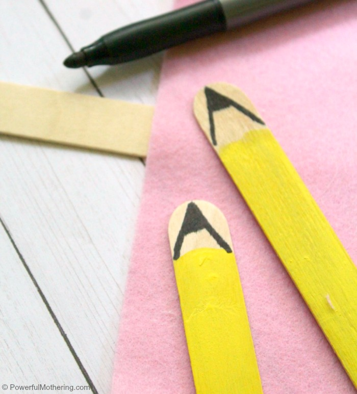 Pencil Bookmark Back To School Craft Finishing Touches
