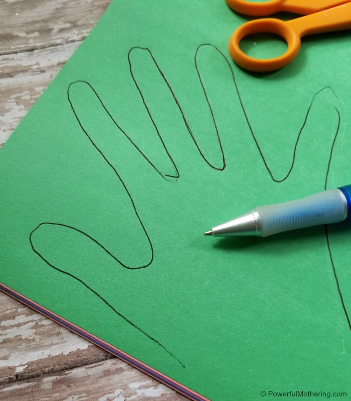 Family Tree Craft First Step Tracing Hands