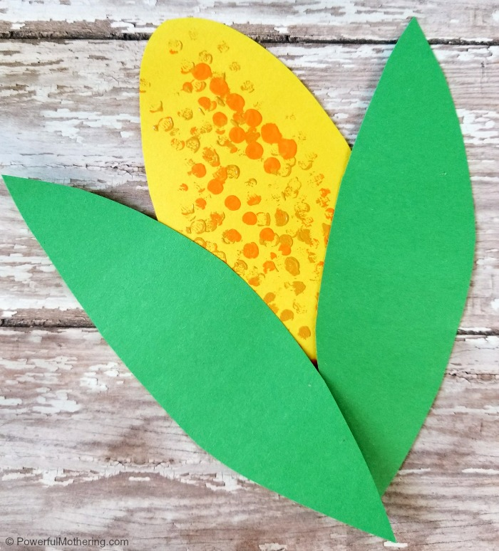 Finished Indian Corn Craft For Kids