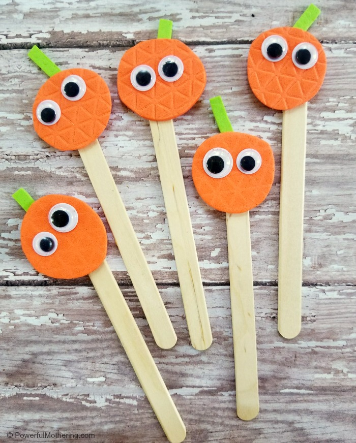 Finished Five Little Pumpkins Puppets