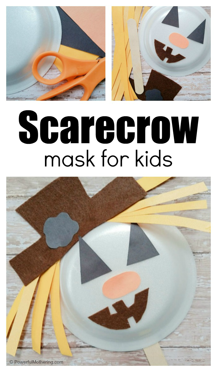 How To Make A Scarecrow Mask With Kids