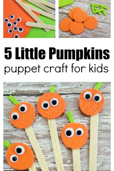 How To Make Five Little Pumpkins Puppets
