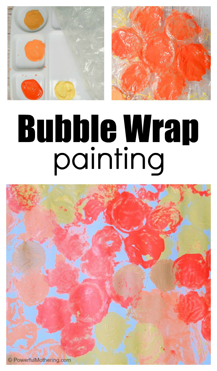 Fun And Frugal Bubble Wrap Painting For Kids
