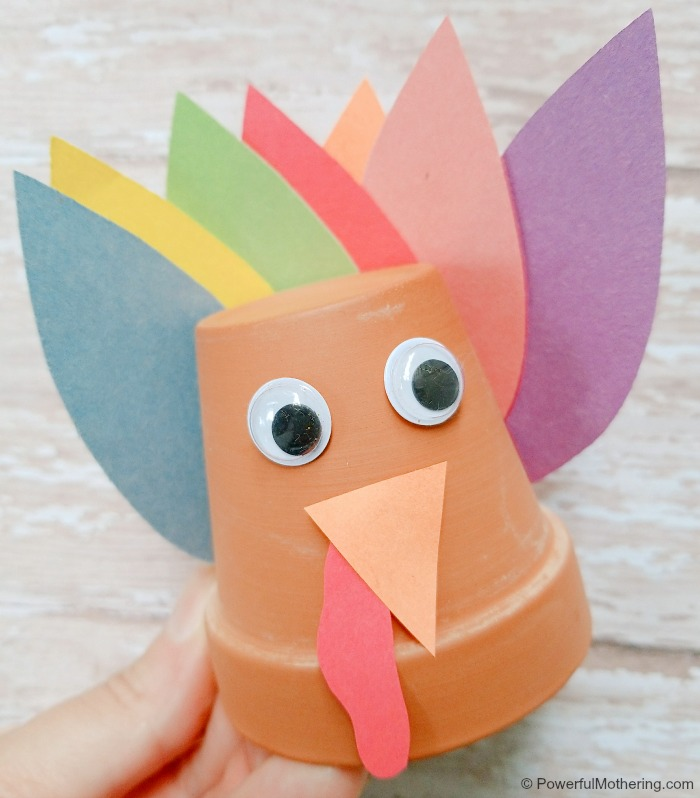 Completed Flower Pot Turkey