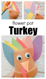 Flower Pot Turkey Craft for Kids