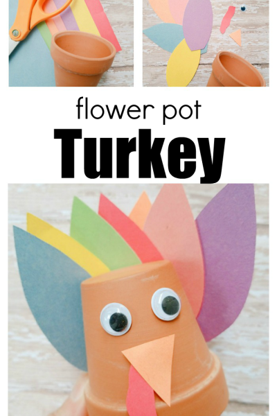 How To Make A Flower Pot Turkey Craft