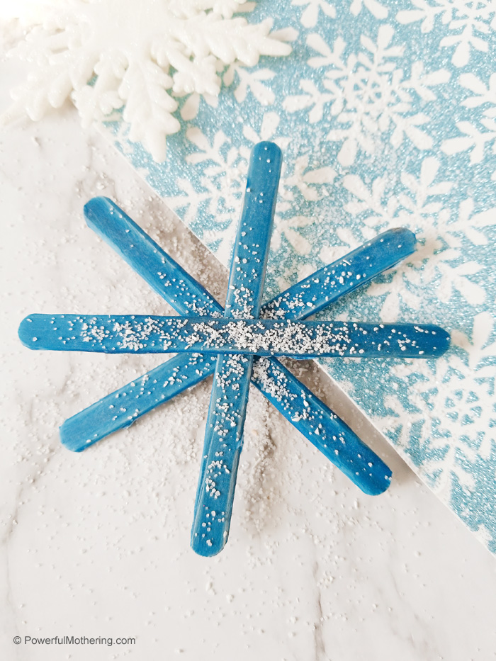 Craft Stick Snowflake Craft