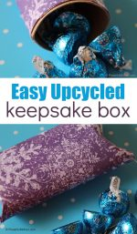 Easy Upcycled Cardboard Keepsake Box