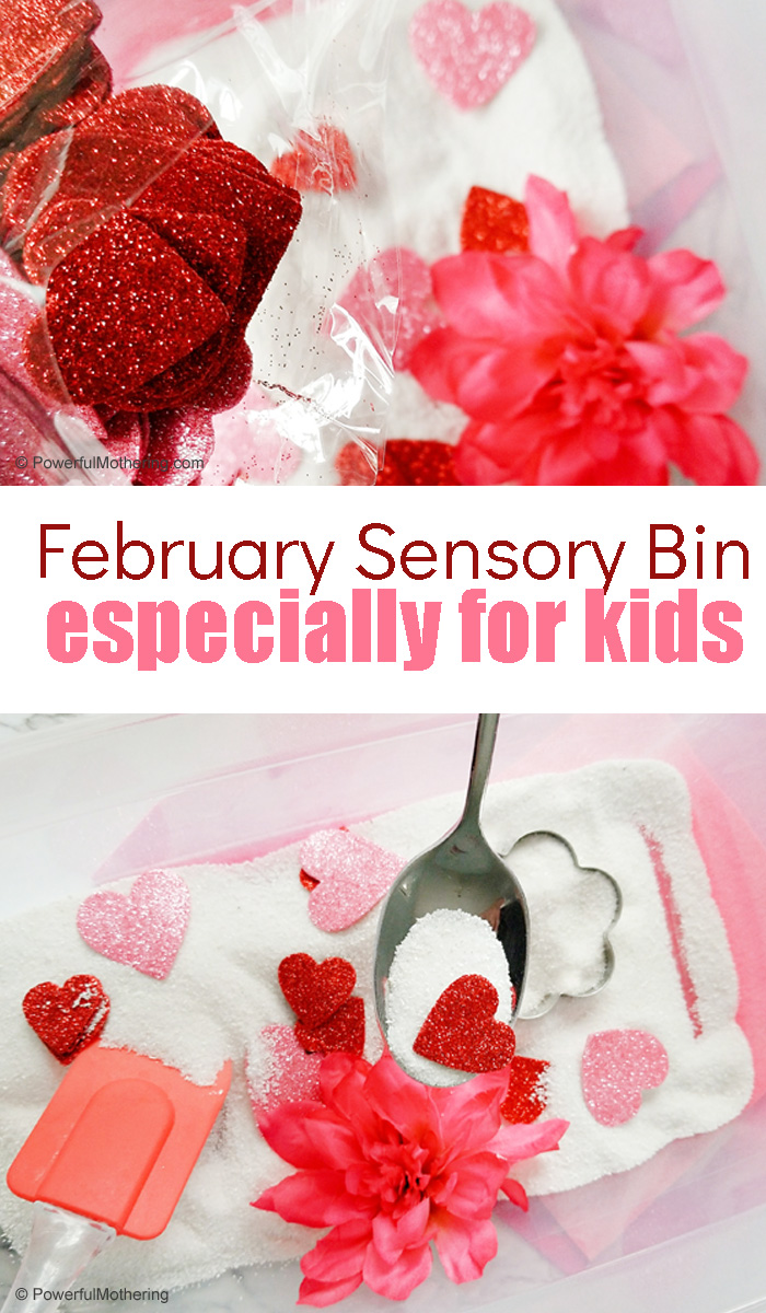February Sensory Bin For Kids Pinterest