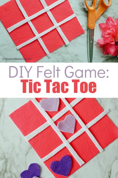 Felt Tic Tac Toe Game For Kids Pinterest