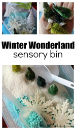 Winter Wonderland Sensory Bin for Kids
