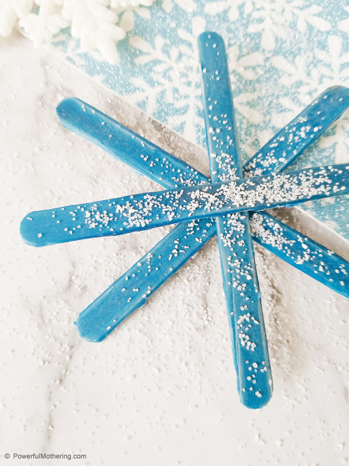 Snowflake Craft For Kids With Craft Sticks