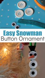 Easy Snowman Button Ornament