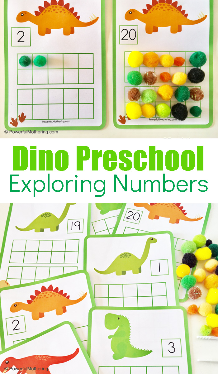 Dinosaur Preschool Number Exploring