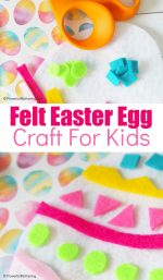Colorful & Fun Felt Easter Egg Craft