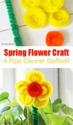 Pipe Cleaner Daffodil Craft for Kids