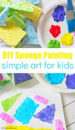 DIY Sponge Stamps for Kids