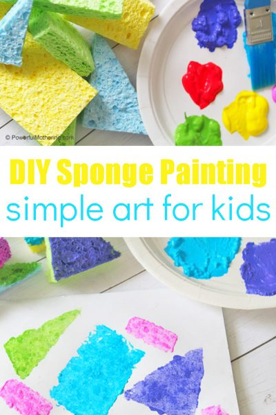 Sponge Painting A Simple Activity