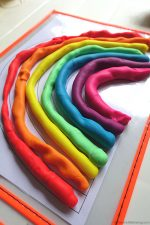 Make a Rainbow with Playdough Printable