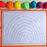 Rainbow Printable For Art Playdough