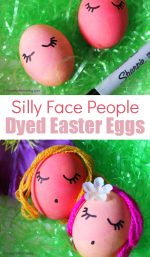 Create Silly Egg People With Dyed Easter Eggs