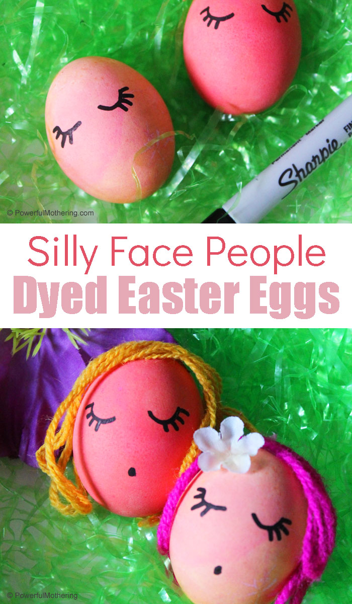 Create adorable and silly people instead with dyed Easter Eggs this year! Kids will love it and everyone will laugh while being creative!