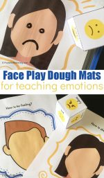 Learning Emotions With Face Playdough Mats